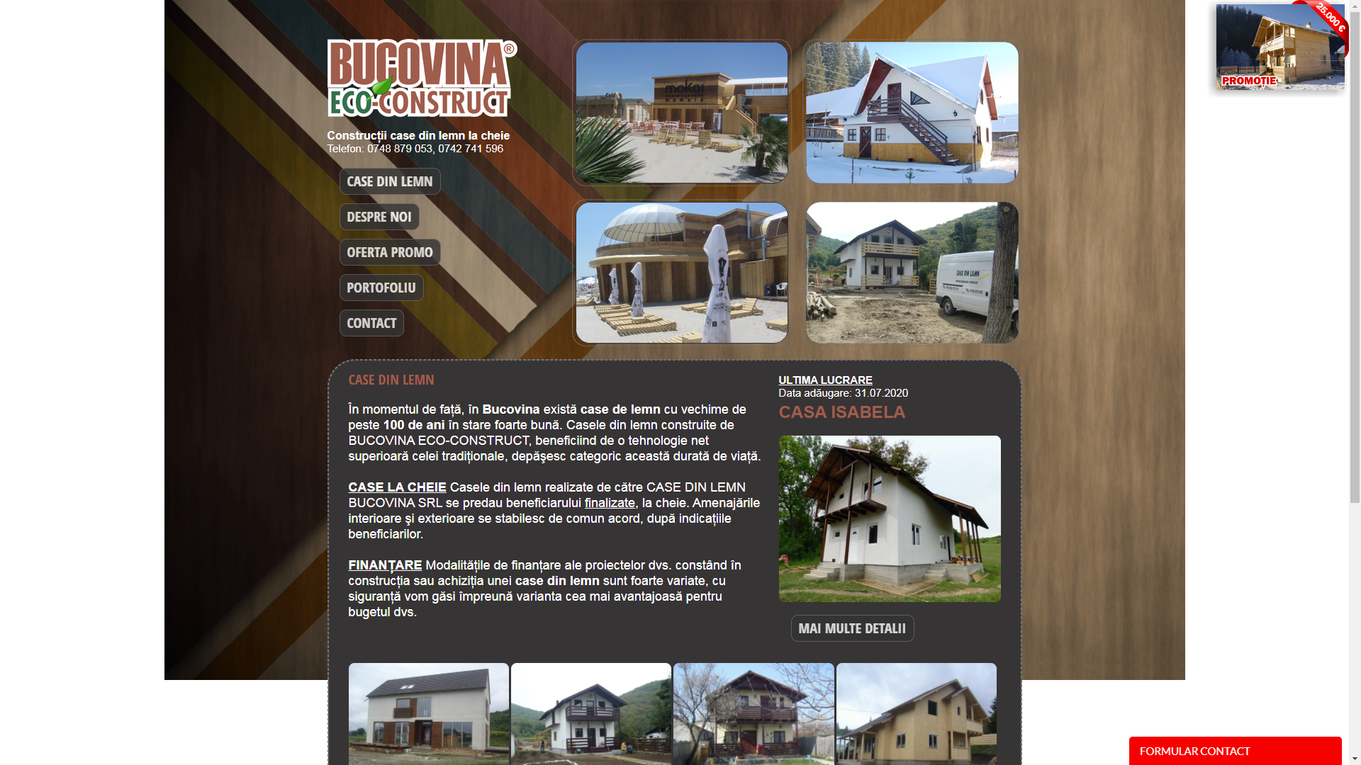constructii case ecologic din lemn